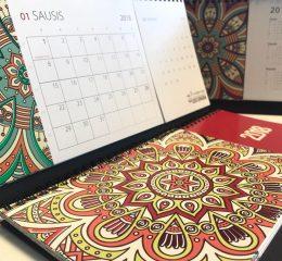 Kalendoriai, aplankai, meniu